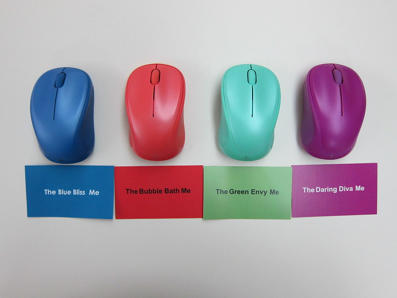 Logitech Wireless Mouse M235 (2014 Color Collection) - 4 Colors (Top)