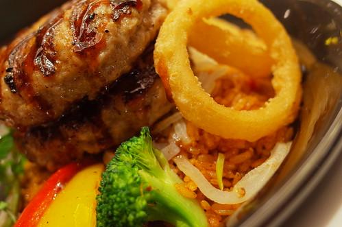 Cajun Jambalaya & Hamburg BBQ sauce 02 onion ring