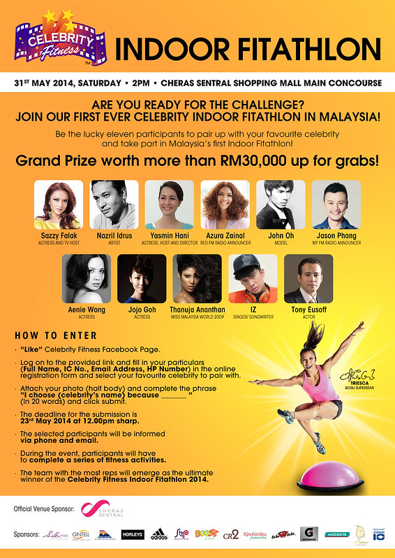CF - Celebrity Indoor Fitathlon - Poster