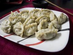 Pork Shrimp and Garlic Chive Potstickers