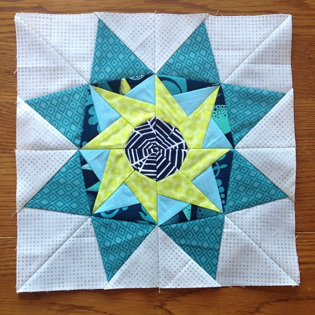 Last one done!  #luckystarsbom December block @dontcallmebetsy you really know how to put together some amazing star blocks!!