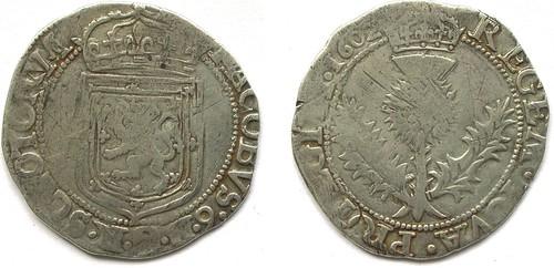 Thistle merk of James VI of Scotland