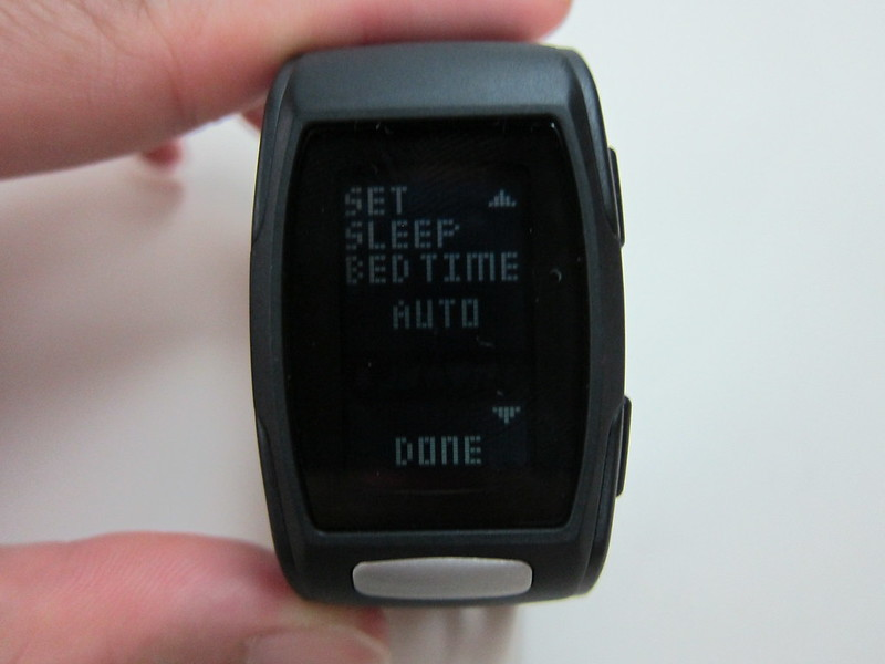 LifeTrak Zone C410 - Settings Screen - Sleep Tracker