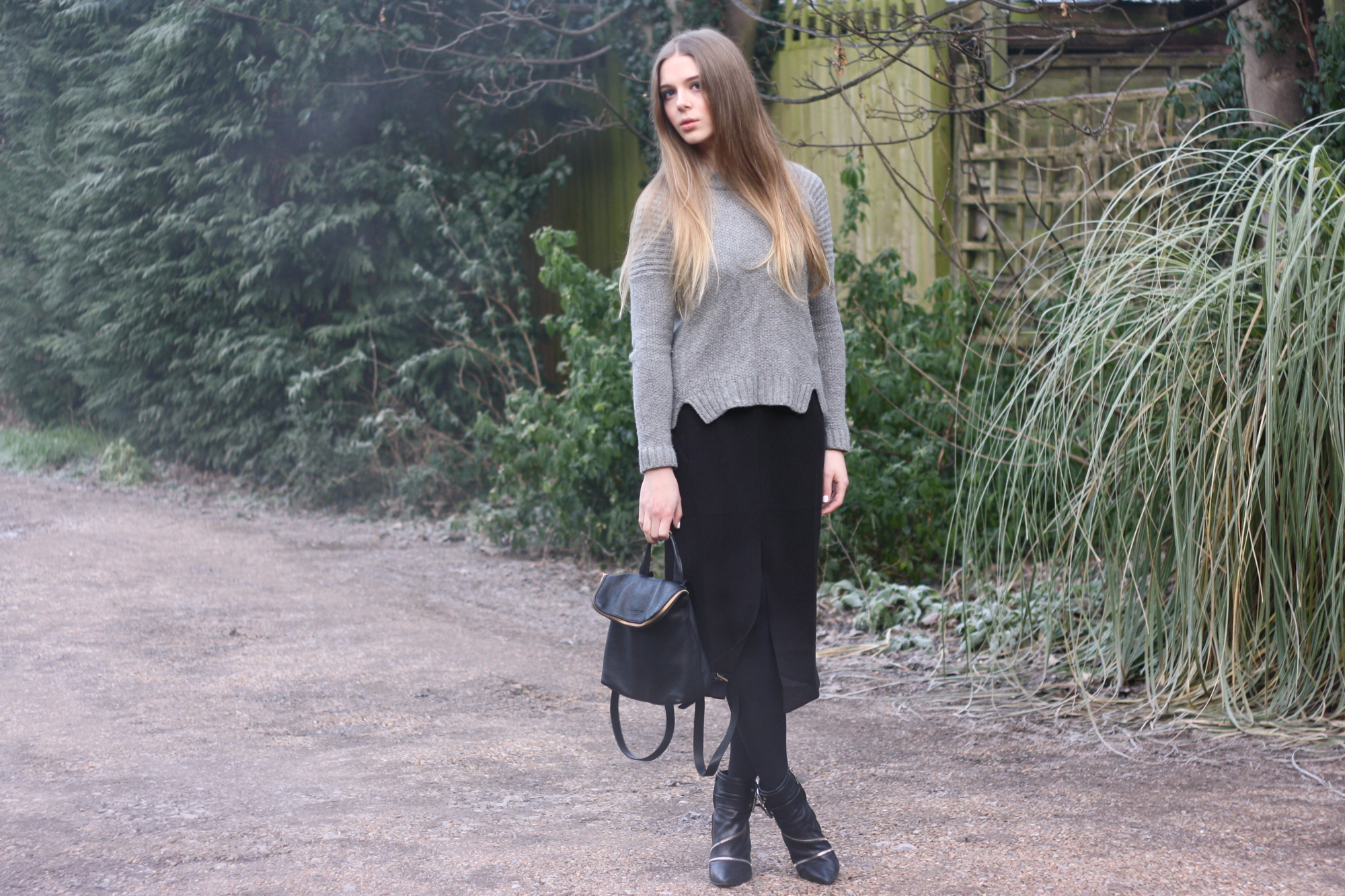 Whistles grey knitted jumper