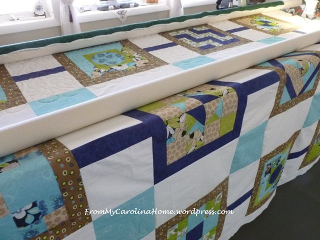 EH2 quilting on frame