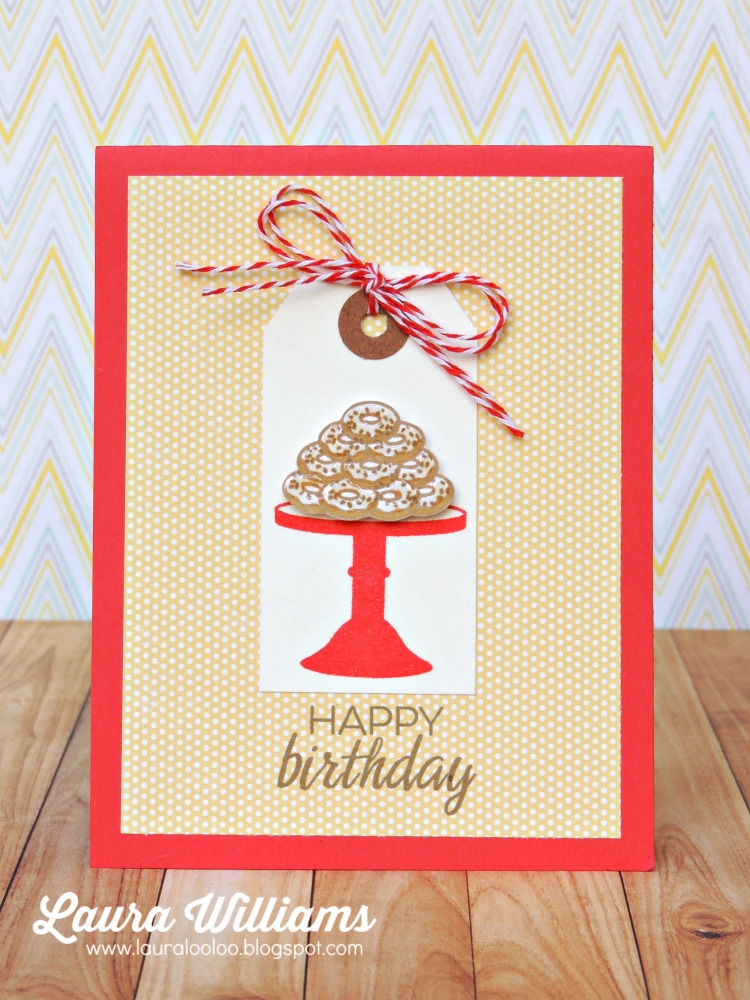 laura williams winnie and walter happy birthday donuts card