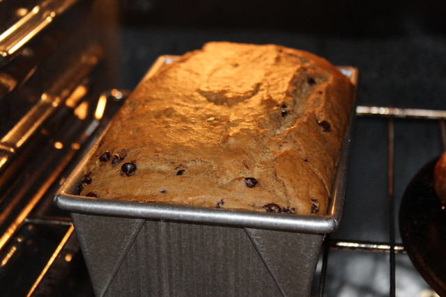 Gluten Free Banana Bread Recipe - After 10 minutes in the Oven
