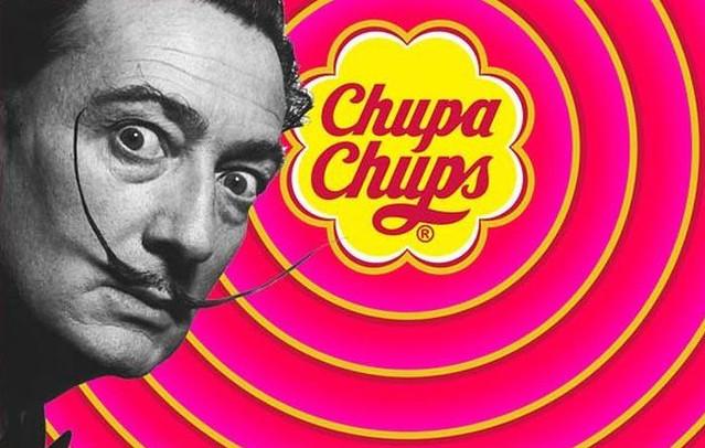 Dalí y el logotipo de la marca española Chupa Chups