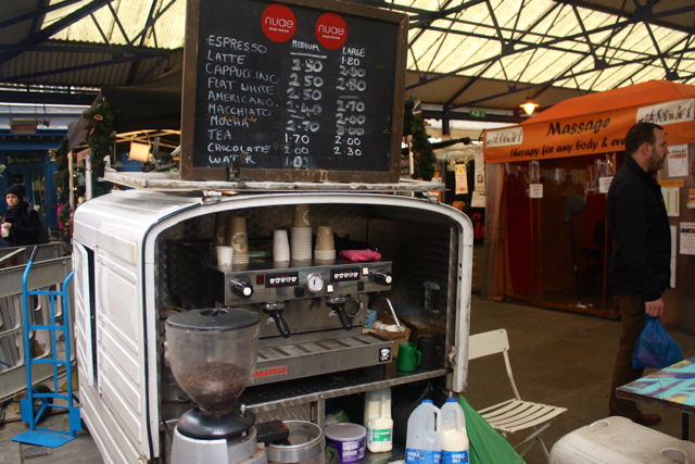 Coffee cart at the Greenwich Market, Greenwich