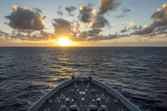 USS Green Bay (LPD 20) transits the Pacific, Feb. 5. (U.S. Navy/MC3 Edward Guttierrez III)