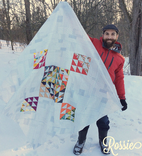 Homestead Quilt top with Jon
