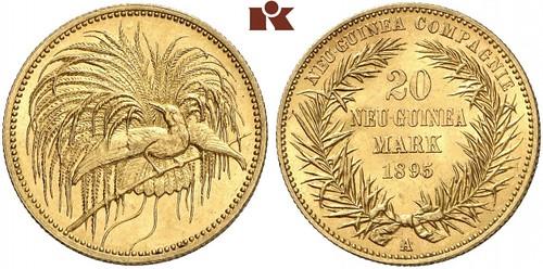 Lot 497 20 Neu-Guinea Mark 1895