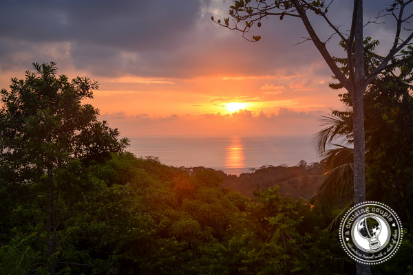 Sunset over Dominical Costa Rica