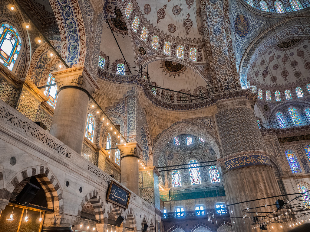 Interior view of Blue Mosque / Istanbul