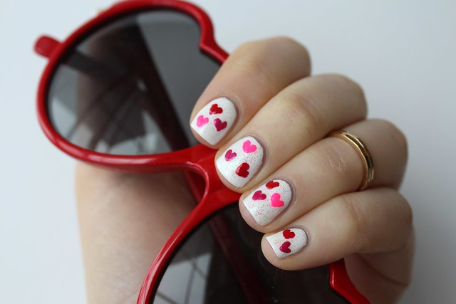 Heart Valentine's Day Manicure | #LivingAfterMidnite