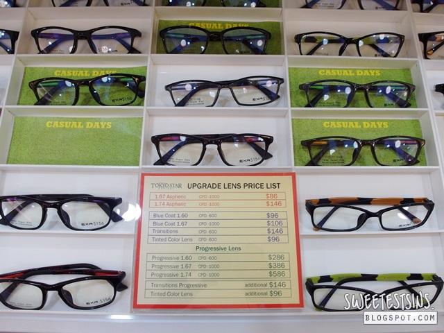 tokyo star optical  price list