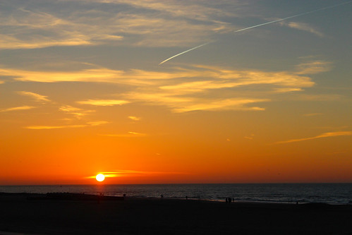 blue sunset sea sky orange cloud sun beach clouds strand outdoor dusk scheveningen zee serene