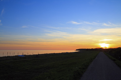 sunset sea summer sky sun beach nature landscape denmark outdoor shore lolland maglehoej