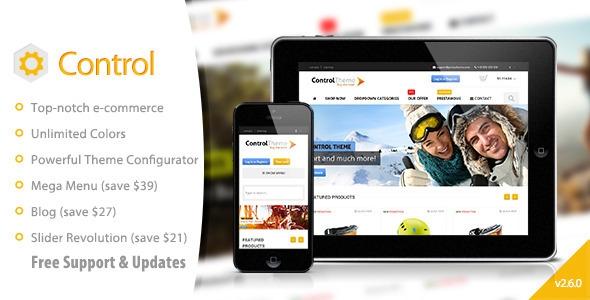 Control v2.6.0 - PrestaShop Theme Responsive + Included Blog