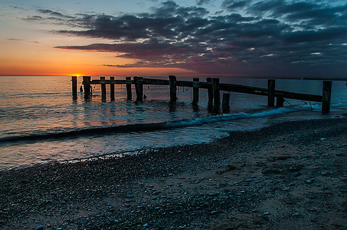 color abandoned beach water clouds sunrise pier nikon waves hamilton niagara greatlakes lakeontario grimsby topaz topazadjust 50point nikon18200mmvriiafs