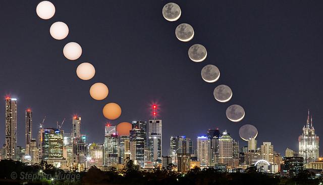 Moonrise and Sunrise over Brisbane-repro