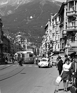 Maria-Theresien-Straße in 1969, Innsbruck, Austria