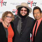 WFUV Gala 2013: Rita Houston with Don Was and Alejandro Escovedo