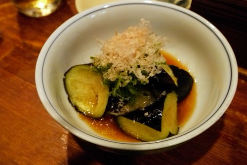 cold eggplant in yuzu sauce - I enjoyed this a lot