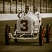 Vintage race car on track