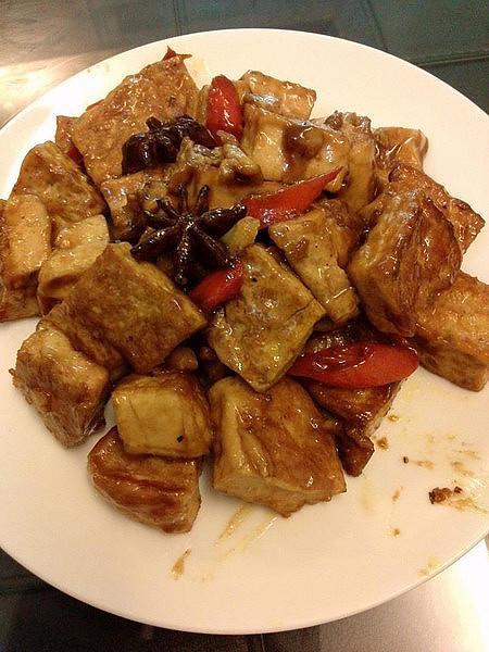 玉米豆腐炒 & 香滷一口豆腐 & 料理專車-20130529