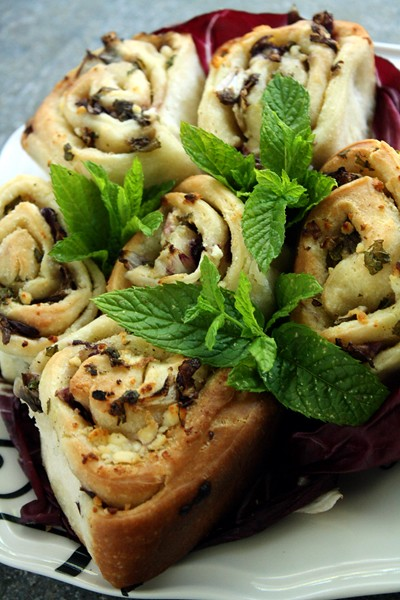 8965491654 af1446d0a6 z Cheesy Garlic Rolls with Radicchio & Mint