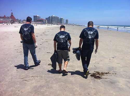 Twenty members of USS Gridley's First Class Petty Officers Association cleaned up Coronado