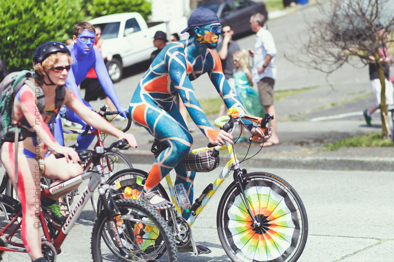 fremont solstice painted cyclists