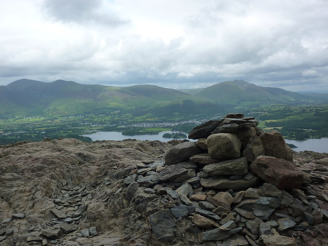 Small cairn at the summit of Catbells