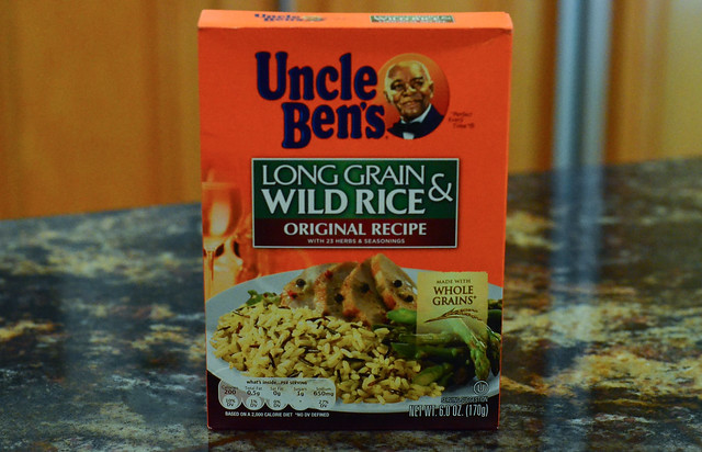A box of long grain and wild rice.