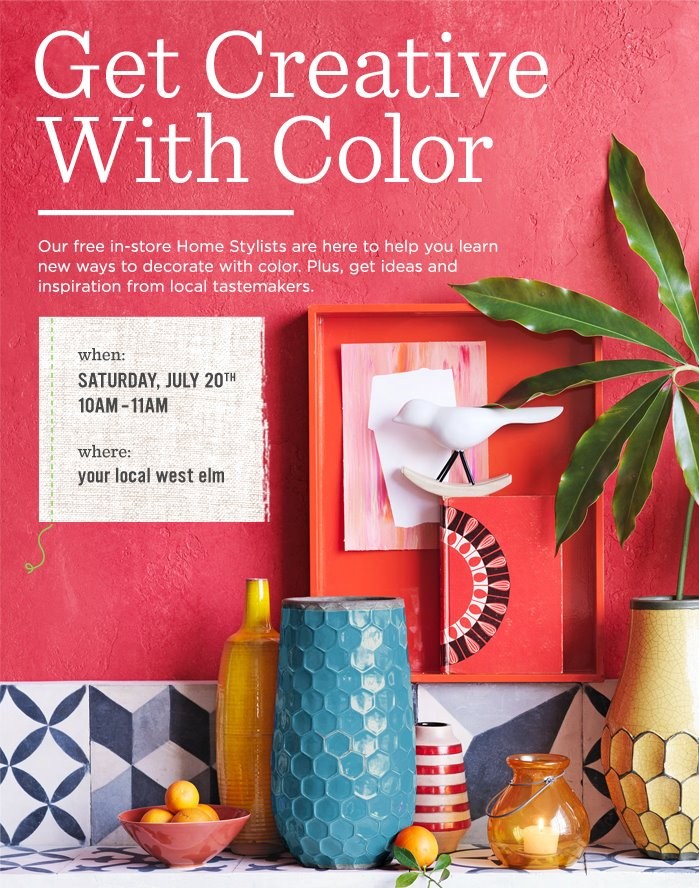 Get Creative at West Elm with Jessica Senti + Washi Tape!