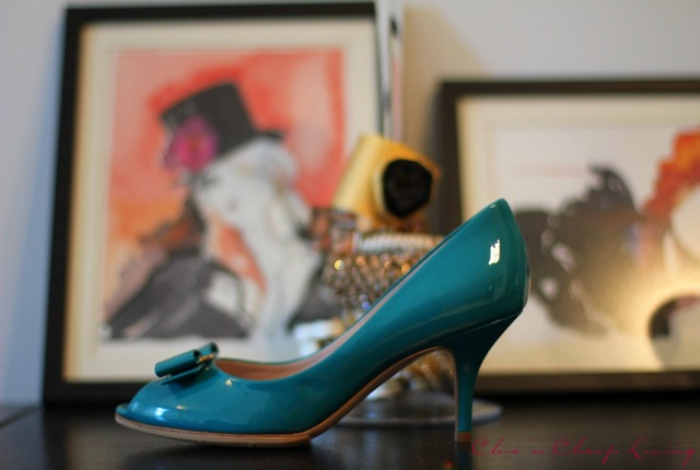 Ferragamo Ribes side view with pictures by Chic n Cheap Living