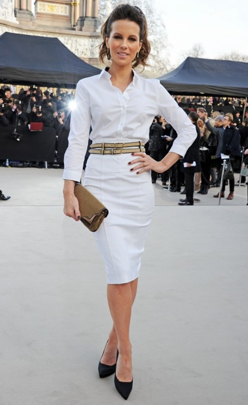 1 Kate Beckinsale wearing Burberry at the Burberry Prorsum Womenswear Autumn Winter 2013 Show