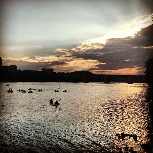 #dc #georgetown #waterfront #potomacriver #sunset