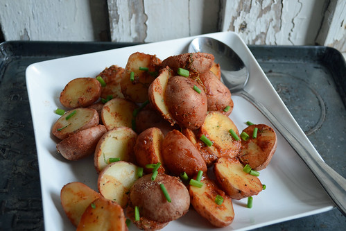 Bloody Mary Roasted Potatoes {Guest Post from Sarcastic Cooking}