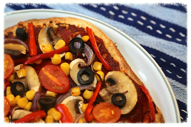 Low calorie vegetable pizza