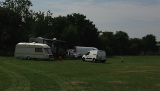 Travellers invade playing field