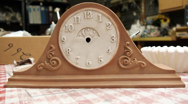 dry brushed clock