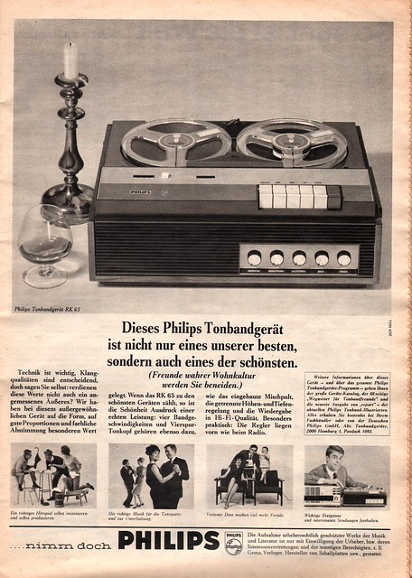1965 - Philips Tonband-Tape Recorder Ad