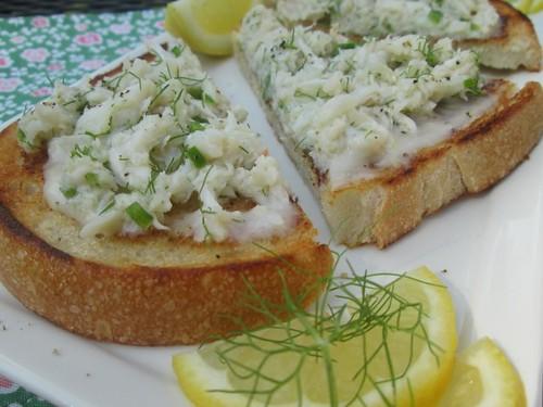 Crab Toast with Lemon Aioli Susie