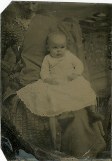 Adorable Baby with a Hidden Mother - Tintype