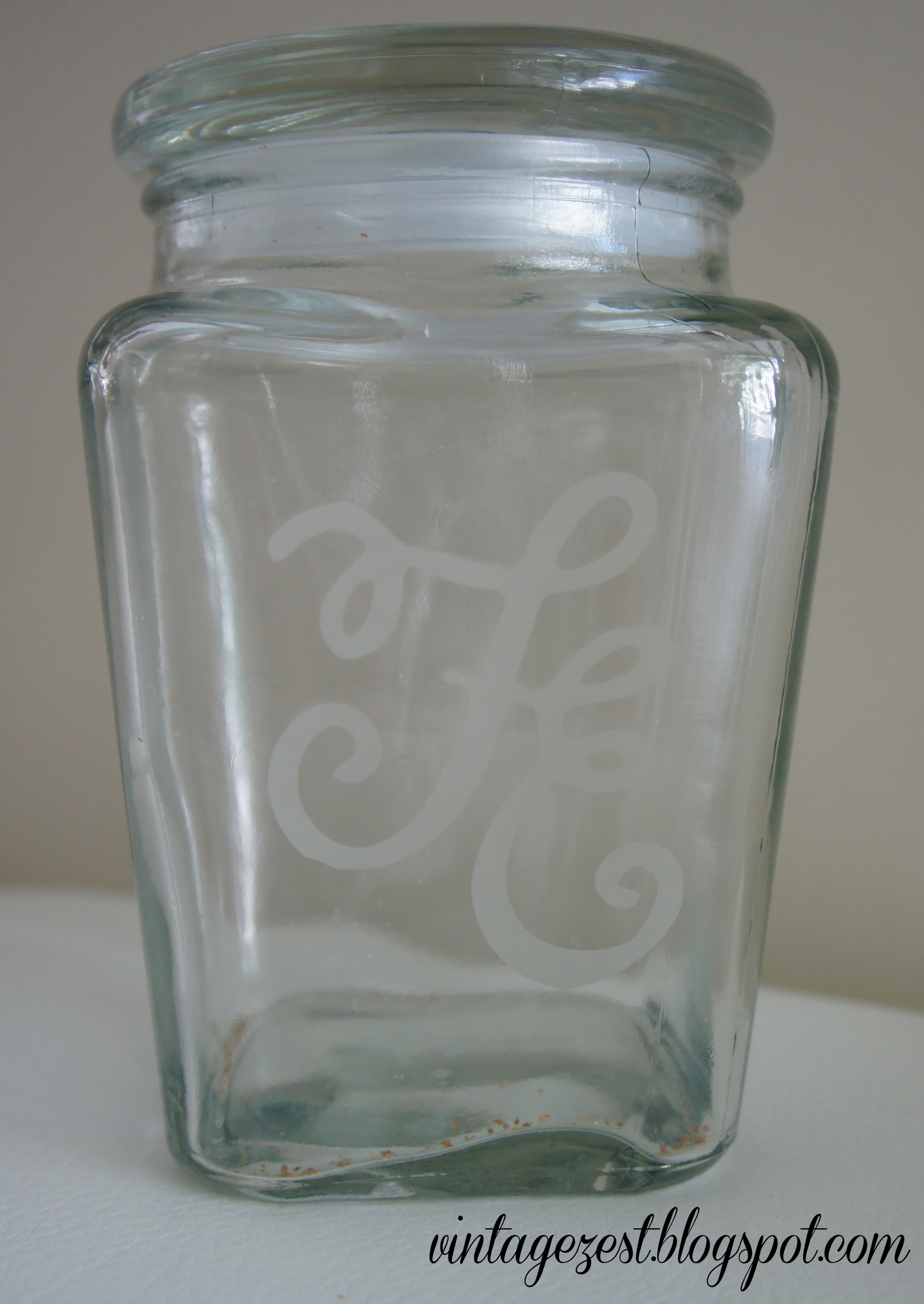 Etched Cookie Jar 2