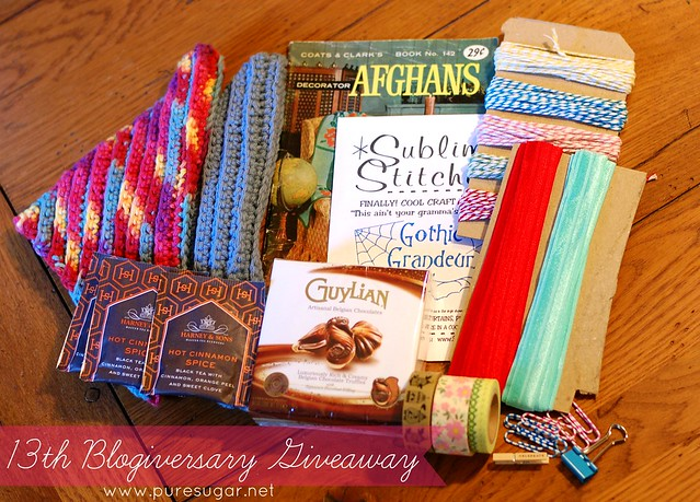 13th blogiversary giveaway
