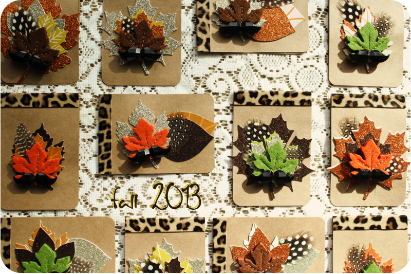 {fall cards} here's to colorful leaves | 2013