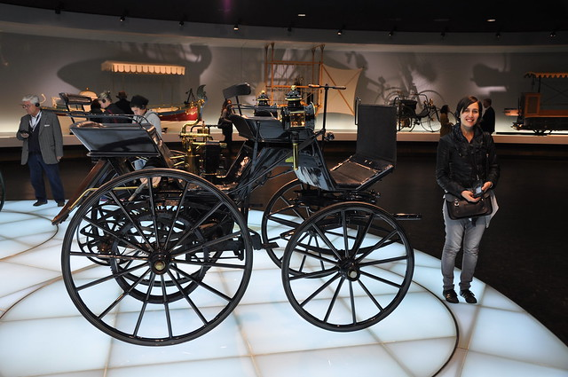 Mercedes Benz Museum - Motorized Daimler carriage, 1886